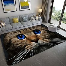 Living Room Carpet,Cute Cat With Blue Eyes