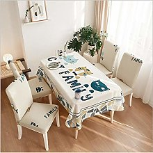 Living Room cat Tablecloth Simple Rectangular