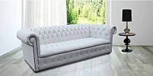 Living Room Chesterfield Furniture | White Leather