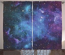 living room curtains Galaxy Stars in Space Curtain