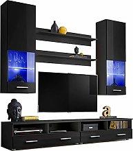 Living Room High Gloss Furniture Set Display Wall
