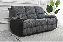 Living room Jumbo Cord Fabric Recliner Lounge 3