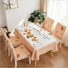 Living Room Orange Tablecloth Simple Rectangular