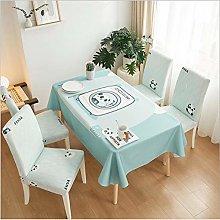 Living Room Panda Tablecloth Simple Rectangular