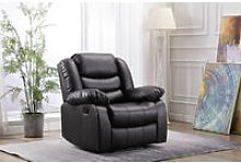 Living Room Recliner Bonded Leather Armchair Sofa