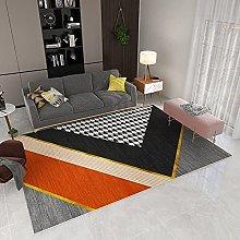 Living Room Rug, Modern Creative Orange Black