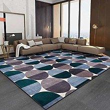 Living room rug Modern Design carpet Blue and