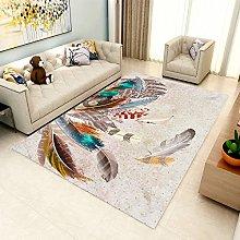 Living Room Rug,Modern Distressed Colorful Animal