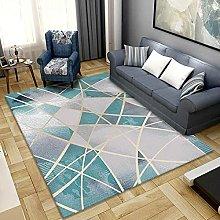 Living Room Rug,Modern Fashion Teal And Light Gray
