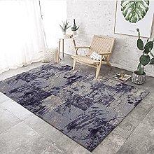 Living Room Rug,Modern Gray Patchwork Lattice