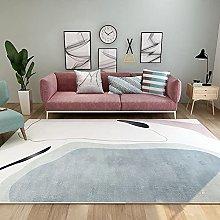 Living Room Rug, Modern Modilan Blue Abstract