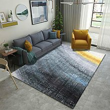 Living Room Rug,Modern Nordic Abstract Blue