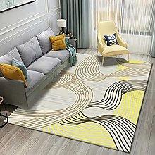 Living Room Rug,Modern Nordic Geometry Stripe Wave