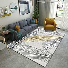 Living Room Rug,Modern Nordic Gray And Golden