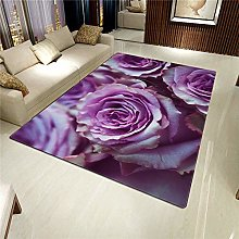 Living Room Rug,Modern Romantic Beautiful Blooming