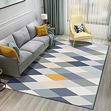 Living Room Rug,Modern Simple Geometry Multicolor