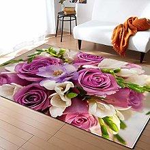 Living Room Rug Purple rose 3.93x5.57 foo