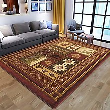 Living Room Rug,Vintage Distressed European Ethnic