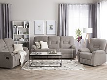 Living Room Set 3 Seater 2 Seater Armchair Taupe