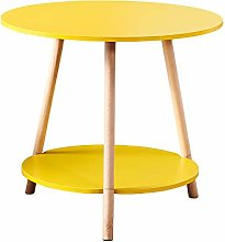 Living Room Small Round Sofa Side Table Yellow 2