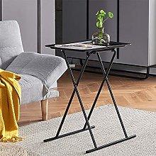 Living Room Small Sofa Side Table Black Folding