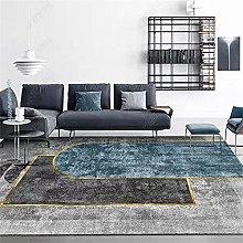 Living Room Sofa Small Rugs Golden blue gray