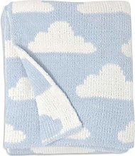 Living Textiles Blue Clouds Chenille Soft Baby