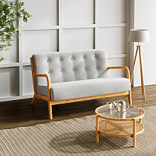Livingandhome - 2 Seater Solid Wooden Frame Sofa