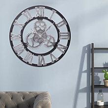 Livingandhome - 58CM Vintage Wall Clock with Roman