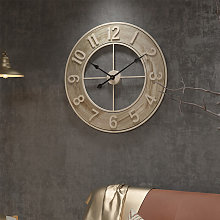 Livingandhome - 60CM Large Wood Numeral Wall Clock