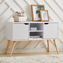 Livingandhome - 96cm TV Stand Media Unit Cabinet