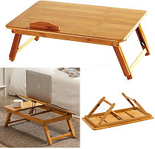Livingandhome - Adjustable Leg Bed Tray Folding