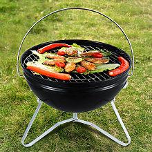 Livingandhome - Charcoal BBQ Grill Smoker Portable