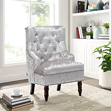 Livingandhome - Chesterfield Upholstered Ice