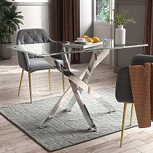 Livingandhome - Clear Glass Coffee Tea Table Glass