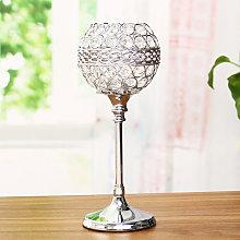 Livingandhome - Crystal Glass Tea Light Holder