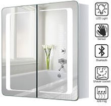 Livingandhome - LED Bathroom Mirror Cabinet with