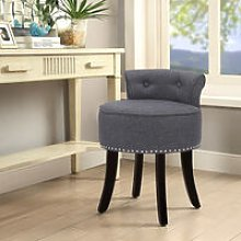 Livingandhome - Linen Dressing Table Chair Vanity