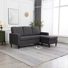 Livingandhome - Lounge Settee Upholstered Linen