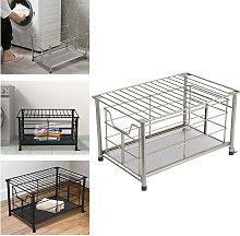 Livingandhome - Metal Wire Storage Basket Bathroom