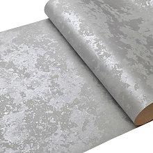 Livingandhome - Metallic Grey Shimmer Wallpaper