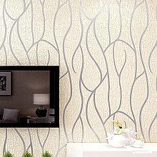 Livingandhome - Modern 3D Wall Paper Silver Grey