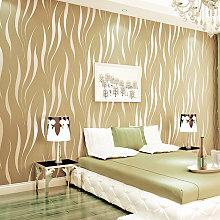 Livingandhome - Modern Silver 3D Wave Stripe