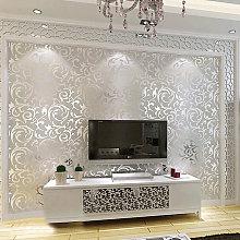 Livingandhome - Modern Wallpaper Silver Grey Wall