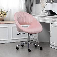 Livingandhome - Office Luxury Velvet 360°Swivel
