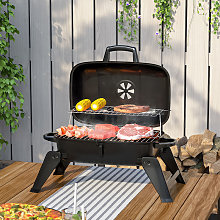 Livingandhome - Portbale Outdoor Camping Charcoal