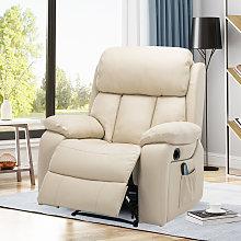 Livingandhome - PU Leather Heated Massage Sofa