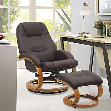 Livingandhome - PU Leather Recliner Office