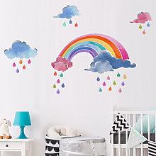Livingandhome - Rainbow Wall Stickers Art Vinyl