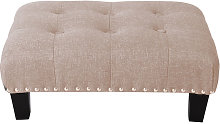 Livingandhome - Small Footstool Deep Buttoned